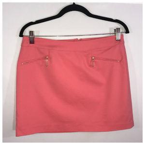H&M Pink & Gold Mini Skirt Size 10 NWT